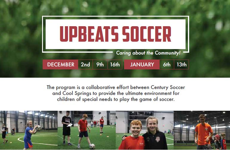 Century Soccers Announces Upbeats Program